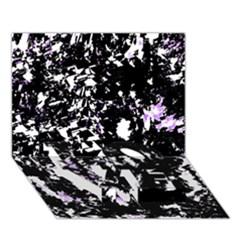 Little Bit Of Purple Love Bottom 3d Greeting Card (7x5)