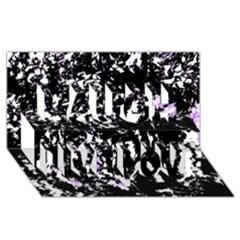 Little Bit Of Purple Laugh Live Love 3d Greeting Card (8x4) by Valentinaart