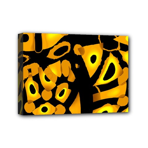 Yellow Design Mini Canvas 7  X 5  by Valentinaart