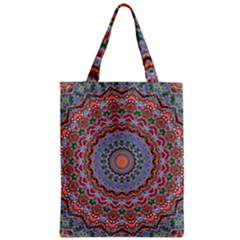 Abstract Painting Mandala Salmon Blue Green Classic Tote Bag by EDDArt