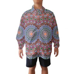 Abstract Painting Mandala Salmon Blue Green Wind Breaker (kids)