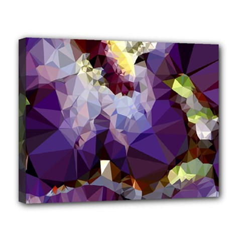 Purple Abstract Geometric Dream Canvas 14  X 11  by DanaeStudio