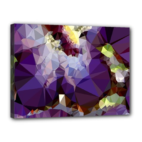 Purple Abstract Geometric Dream Canvas 16  X 12  by DanaeStudio