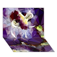Purple Abstract Geometric Dream Clover 3d Greeting Card (7x5) by DanaeStudio
