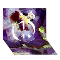 Purple Abstract Geometric Dream Peace Sign 3d Greeting Card (7x5) by DanaeStudio