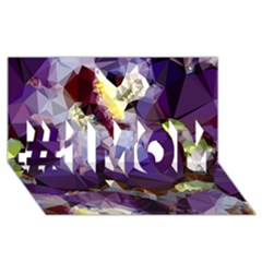 Purple Abstract Geometric Dream #1 Mom 3d Greeting Cards (8x4) by DanaeStudio