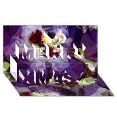 Purple Abstract Geometric Dream Merry Xmas 3d Greeting Card (8x4) by DanaeStudio