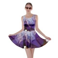 Purple Abstract Geometric Dream Skater Dress by DanaeStudio