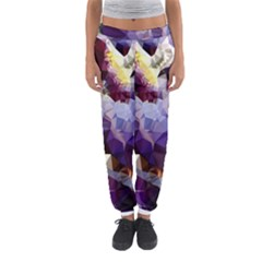 Purple Abstract Geometric Dream Women s Jogger Sweatpants by DanaeStudio