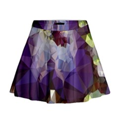 Purple Abstract Geometric Dream Mini Flare Skirt by DanaeStudio