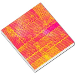 Yello And Magenta Lace Texture Small Memo Pads by DanaeStudio