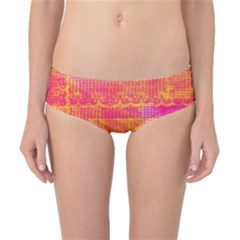 Yello And Magenta Lace Texture Classic Bikini Bottoms by DanaeStudio