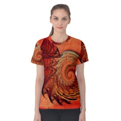 Nautilus Shell Abstract Fractal Women s Cotton Tee by designworld65