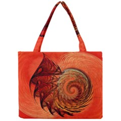 Nautilus Shell Abstract Fractal Mini Tote Bag by designworld65