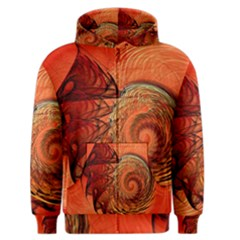 Nautilus Shell Abstract Fractal Men s Zipper Hoodie by designworld65