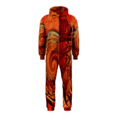 Nautilus Shell Abstract Fractal Hooded Jumpsuit (kids) by designworld65