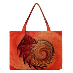 Nautilus Shell Abstract Fractal Medium Tote Bag by designworld65