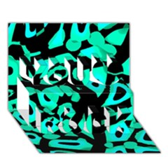 Cyan Design You Rock 3d Greeting Card (7x5) by Valentinaart