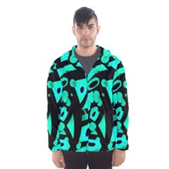 Cyan Design Hooded Wind Breaker (men) by Valentinaart