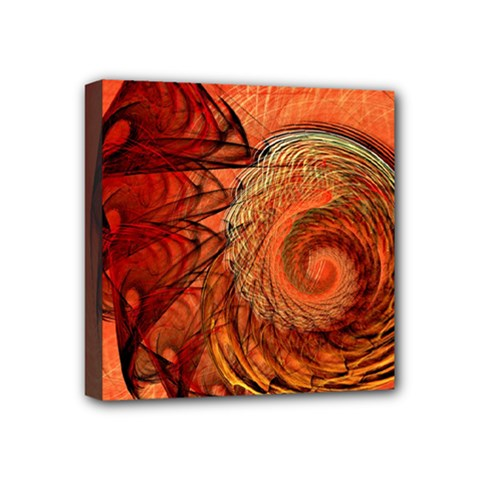 Nautilus Shell Abstract Fractal Mini Canvas 4  X 4  by designworld65