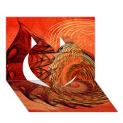Nautilus Shell Abstract Fractal Heart 3d Greeting Card (7x5) by designworld65