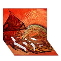 Nautilus Shell Abstract Fractal Love Bottom 3d Greeting Card (7x5)