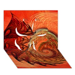 Nautilus Shell Abstract Fractal Clover 3d Greeting Card (7x5) by designworld65