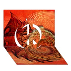 Nautilus Shell Abstract Fractal Peace Sign 3d Greeting Card (7x5) by designworld65