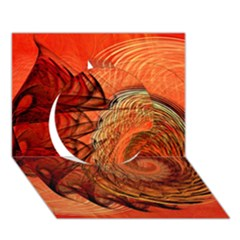 Nautilus Shell Abstract Fractal Circle 3d Greeting Card (7x5) by designworld65