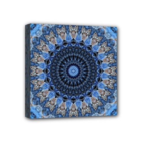 Feel Blue Mandala Mini Canvas 4  X 4  by designworld65