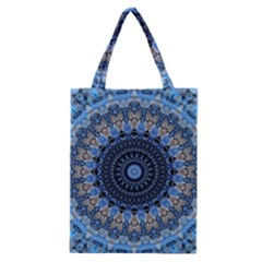 Feel Blue Mandala Classic Tote Bag by designworld65