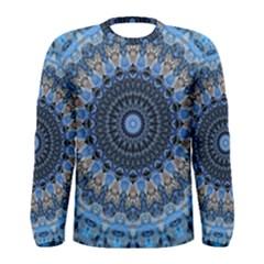 Feel Blue Mandala Men s Long Sleeve Tee by designworld65