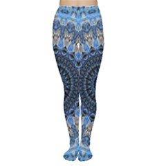 Feel Blue Mandala Women s Tights by designworld65