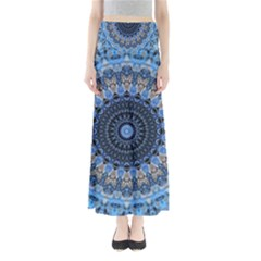 Feel Blue Mandala Maxi Skirts by designworld65
