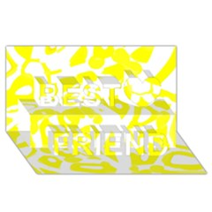 Yellow Sunny Design Best Friends 3d Greeting Card (8x4)