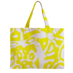 Yellow Sunny Design Zipper Mini Tote Bag by Valentinaart