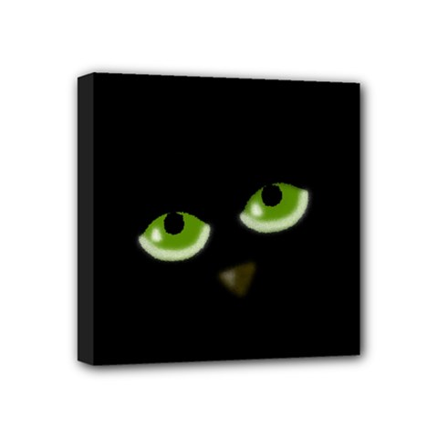 Halloween   Back Cat Mini Canvas 4  X 4  by Valentinaart