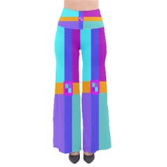 Right Angle Squares Stripes Cross Colored Pants by EDDArt