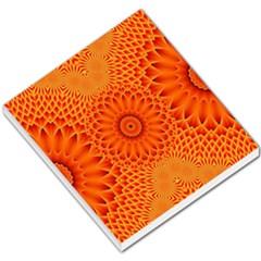 Lotus Fractal Flower Orange Yellow Small Memo Pads by EDDArt