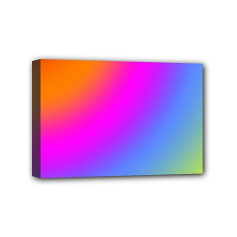 Radial Gradients Red Orange Pink Blue Green Mini Canvas 6  X 4  by EDDArt