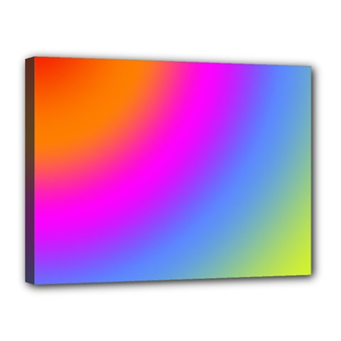 Radial Gradients Red Orange Pink Blue Green Canvas 16  X 12  by EDDArt