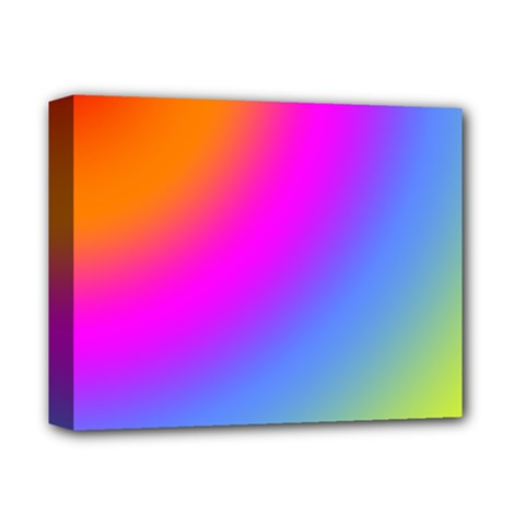 Radial Gradients Red Orange Pink Blue Green Deluxe Canvas 14  X 11  by EDDArt