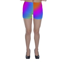Radial Gradients Red Orange Pink Blue Green Skinny Shorts by EDDArt
