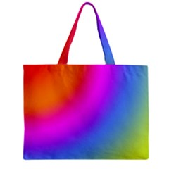Radial Gradients Red Orange Pink Blue Green Zipper Mini Tote Bag by EDDArt