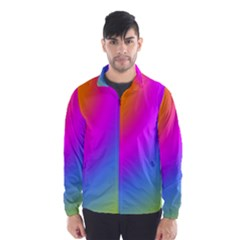 Radial Gradients Red Orange Pink Blue Green Wind Breaker (men) by EDDArt