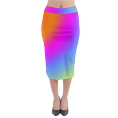 Radial Gradients Red Orange Pink Blue Green Midi Pencil Skirt by EDDArt