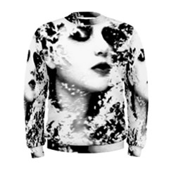 Romantic Dreaming Girl Grunge Black White Men s Sweatshirt