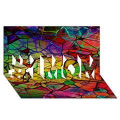 Abstract Squares Triangle Polygon #1 Mom 3d Greeting Cards (8x4) by AnjaniArt