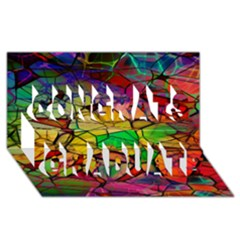 Abstract Squares Triangle Polygon Congrats Graduate 3d Greeting Card (8x4) by AnjaniArt