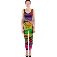 Abstract Squares Triangle Polygon Onepiece Catsuit by AnjaniArt